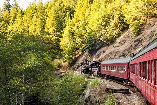 World-Famous Skunk Train – A Historic Scenic Train Journey